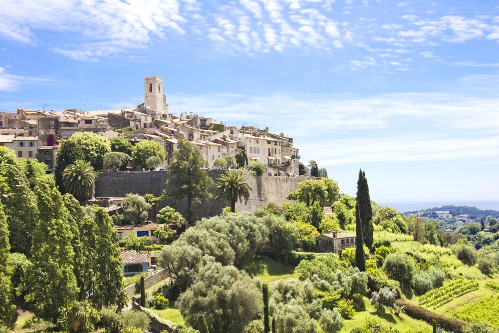 La vue sur les hauteurs de Saint-Paul de Vence, une des plus belles photos PACA